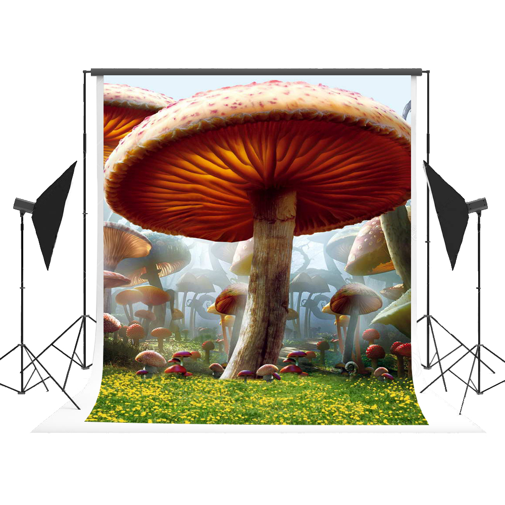 Kate Cartoon Mushroom Backdrop Fairy Tale Forest Photography Background Seamless Fundo for Kids Party Themed Studio Photos 5x7ft 300cm 200cm about 10ft 6 5ft fundo butterflies fluttering woods3d baby photography backdrop background lk 2024