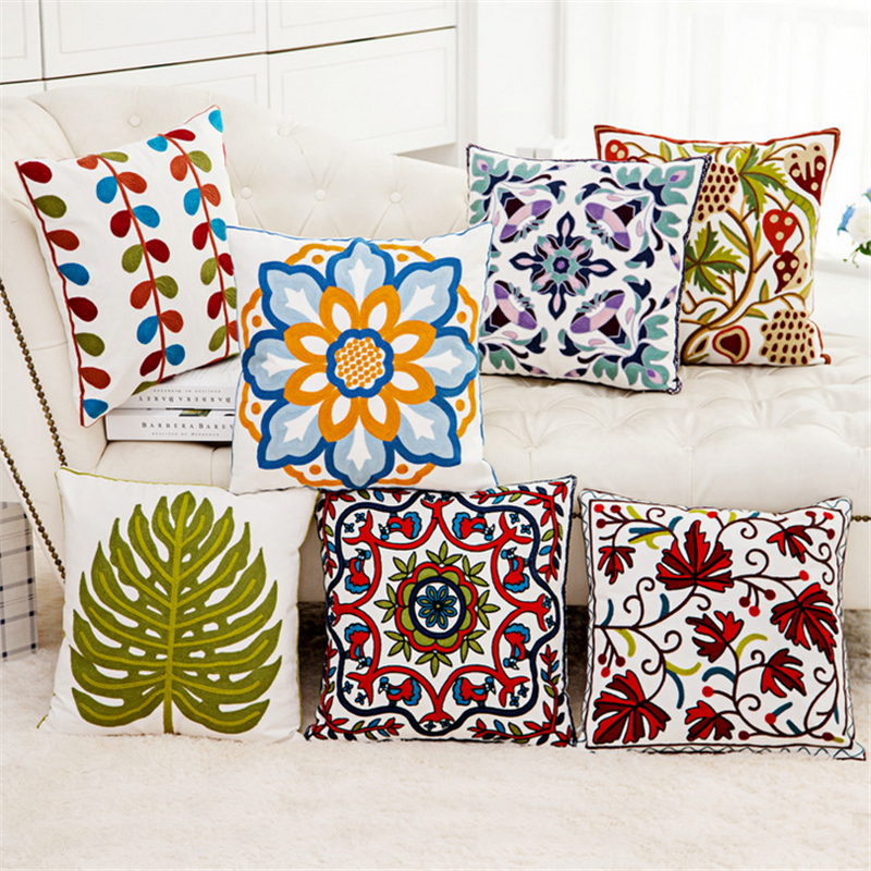 High grade cotton canvas 45 *45cm cushion sofa cushions car knit sweater embroidered  pillow personalized custom-in Cushion Cover from Home & Garden on ...