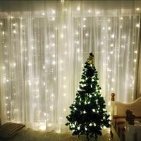 LED lights flashing light curtain lamp 3*3 ice Spring Festival Christmas day new year stars decorative lamp lamp series