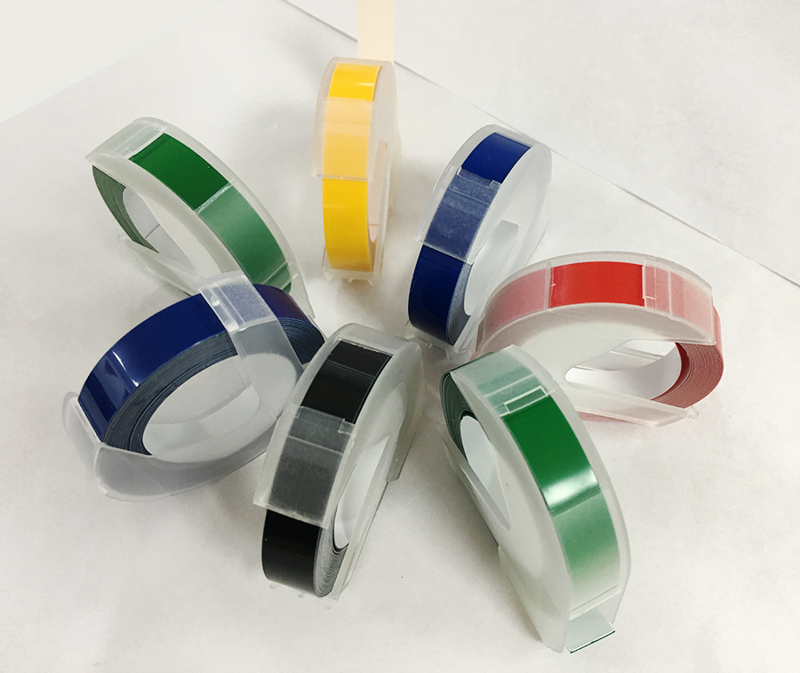 Image 2 - 5 PCS Manual Label Machine Ribbon 9mm DIY Office Gifts With Viscose Ribbon DIY printer label paper-in Printer Parts from Computer & Office