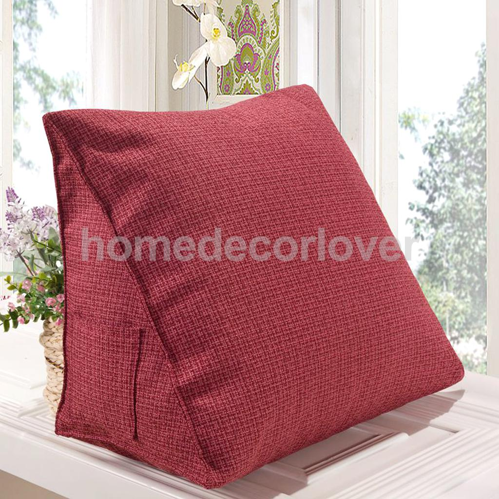 Retro Cotton Linen Pillow Sofa Waist Throw Soft Nap Pillow Decor 40 x 20cm Christmas Decor