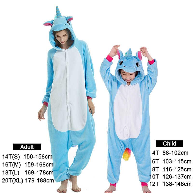 65048340902 ... Kinderen tijger Onesie Kigurumi Flanellen Pyjama Cartoon Jongens  Meisjes Hooded Volwassenen Animal Eenhoorn Jumpsuit Pyjama Baby ...