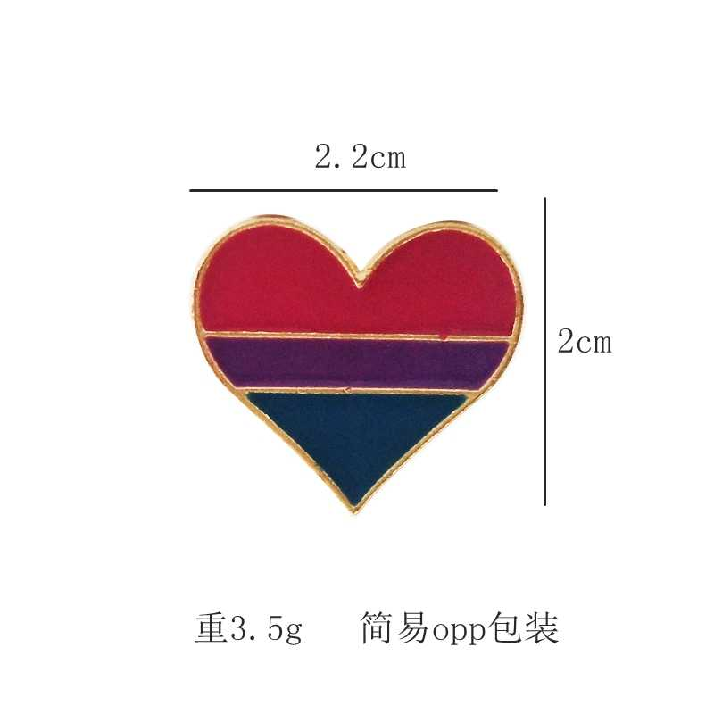 93647e968fd ... 2019 Rainbow Heart Enamel pins Gay Pride LGBT Pin Badge Awareness  Brooches 4 style Heart Jewelry ...