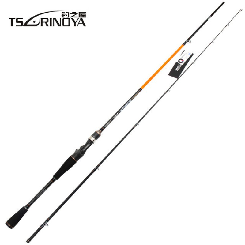 TSURINOYA 2.1mML,M Power 2Section Spinning/Casting Fishing Rod Carbon Lure Rods Vara De Pesca Canne A Peche Fishing Tackle Carp smart 2 4m spinning fishing rod m power vara de pescar carbono travel spinning rod canne a peche lure weight 7 25g fishing rods
