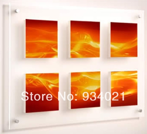 Transparent wall mounted acrylic photo frame 16*24 inch - a665