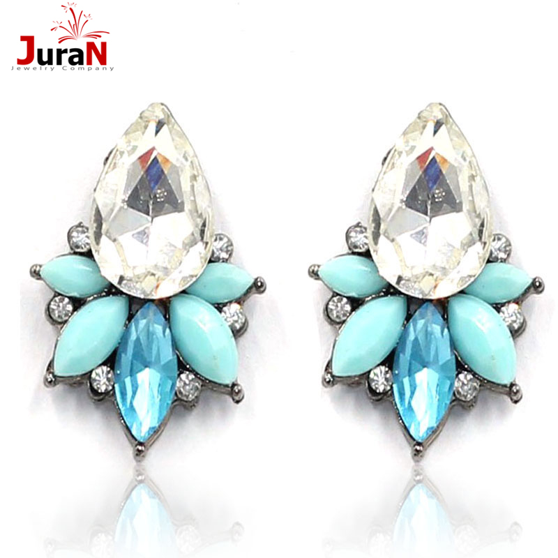 2016 New Boucle d'oreille Crystal Pendientes Jewelry Brincos Grandes Femme bijoux Summer Style stud fashion earrings india