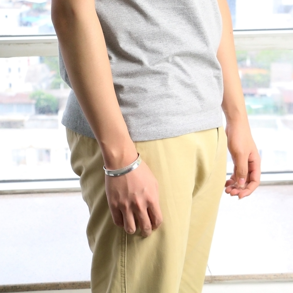 Bracelet viking femme en argent surface lisse 3