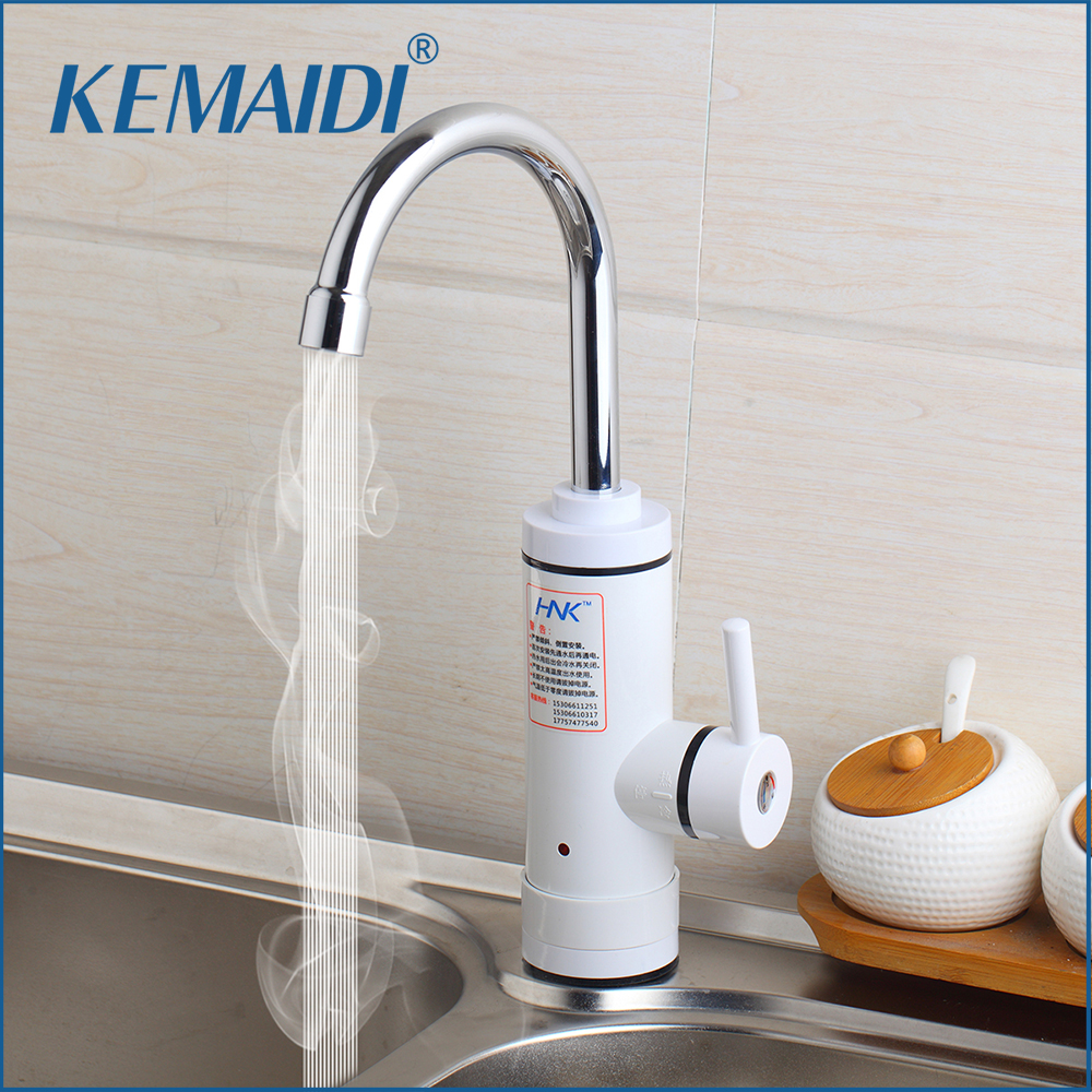 KEMAIDI RU Stock Instant Tankless Electric Hot Water Heater Faucet Kitchen Instant Heating Tap Water Heater with LED EU Plug