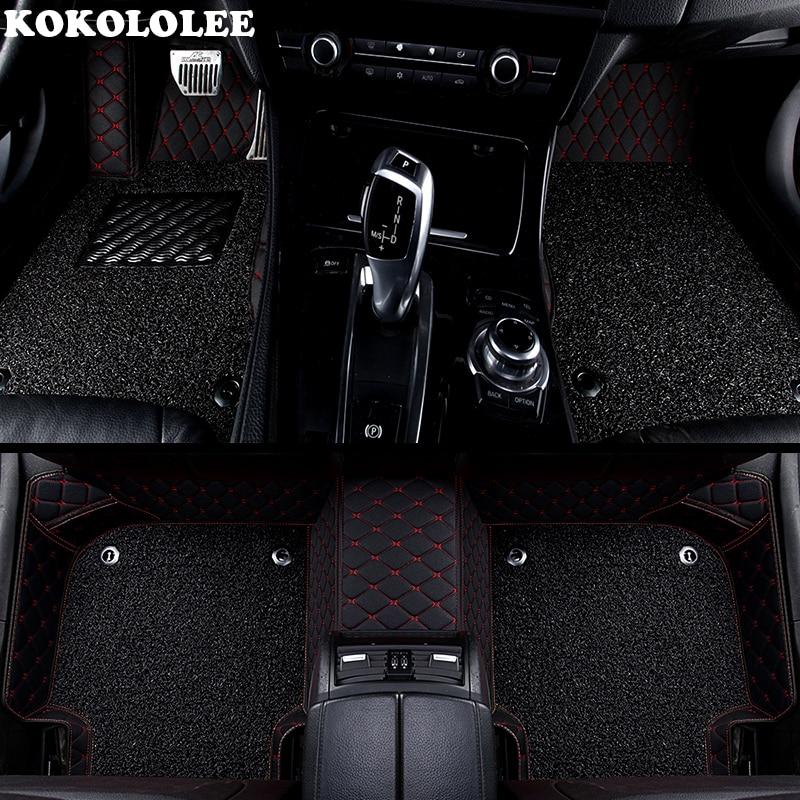 KOKOLOLEE Personnalisé de voiture tapis de sol pour Toyota Corolla Camry Rav4 Auris Prius Yalis Avensis Alphard 4 Coureur Hilux highlander sequoia