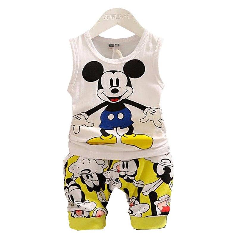 BibiCola Baby Boy Clothing Set Summer Top + Shorts Kid Boy Summer Set Children Boy Clothes Set lottery boy