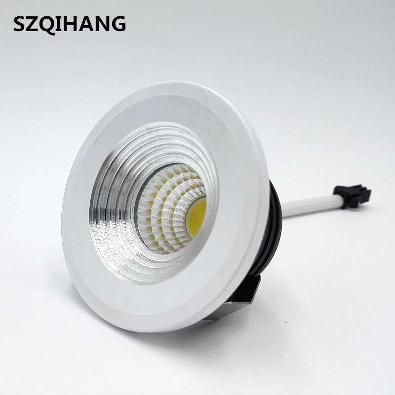 Dimmable LED Downlight Mini 5W Recessed COB Down Light AC85-265V LED Ceiling Lamp White/Warm Wardrobe Lights