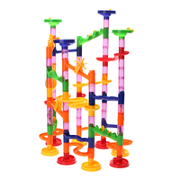 105pcs Maze Puzzle Toy Water Pipe Building Kids DIY Construction Marble Race Run Maze Ball Track