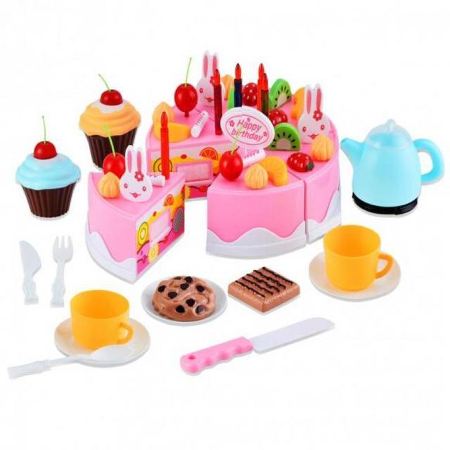 diy birthday cake set children early educational toy classic pretend play kitchen food toy 54pcs  diy birthday cake set children early educational toy classic      rh   aliexpress com