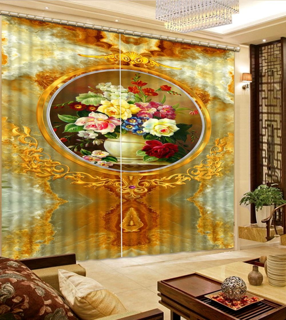 customize 3d blackout curtains European vase curtains for living room kitchen curtains embroidered voile curtainscustomize 3d blackout curtains European vase curtains for living room kitchen curtains embroidered voile curtains