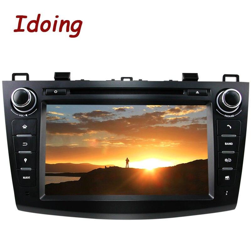 Idoing2Din Volant Android 7.1 Pour Mazda3 Voiture DVD Multimédia Lecteur Vidéo GPS Navigation Quad Core Écran Tactile bluetooth