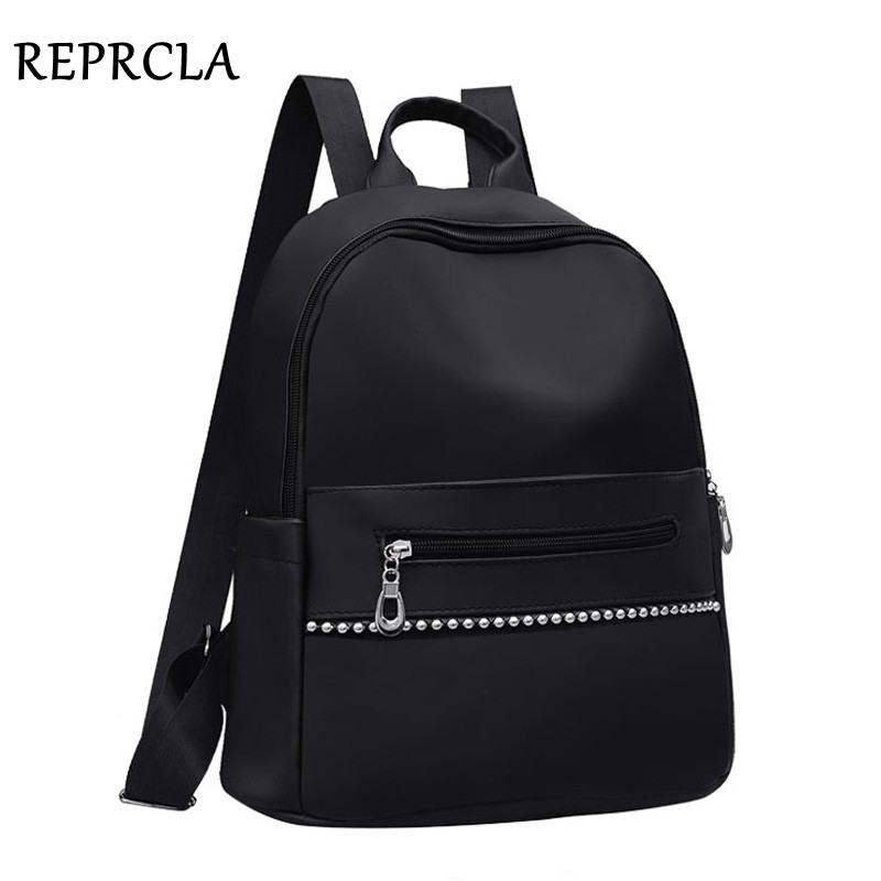REPRCLA Fashion Women Backpack Nylon School Shoulder Bags For Teenage Girls High Quality Travel Bagpack Mochila Feminina