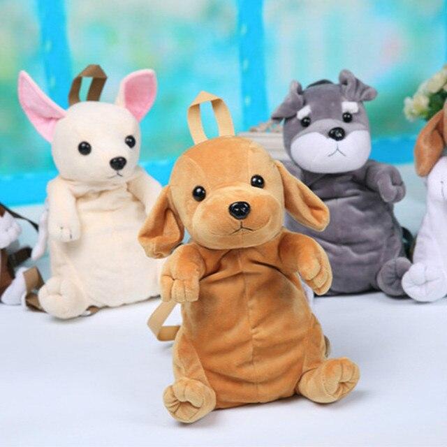 Kids Cute Cartoon Canine Puppy Dogs Backpack Boy Plush 3D Labrador  Kindergarten Small School Bag For 98629ec8cad97