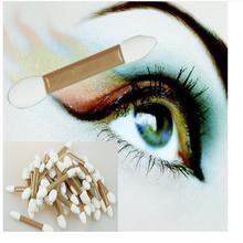 Hot New Local Tyrants Golden Double headed Foam Rubber Eyeshadow Brush Cosmetic Tool Oct 27