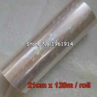 Holographic Star foil transparent foil hot stamping for paper or plastic 21cm x120m Shattered Star Gilding Foil Glasses Gilding