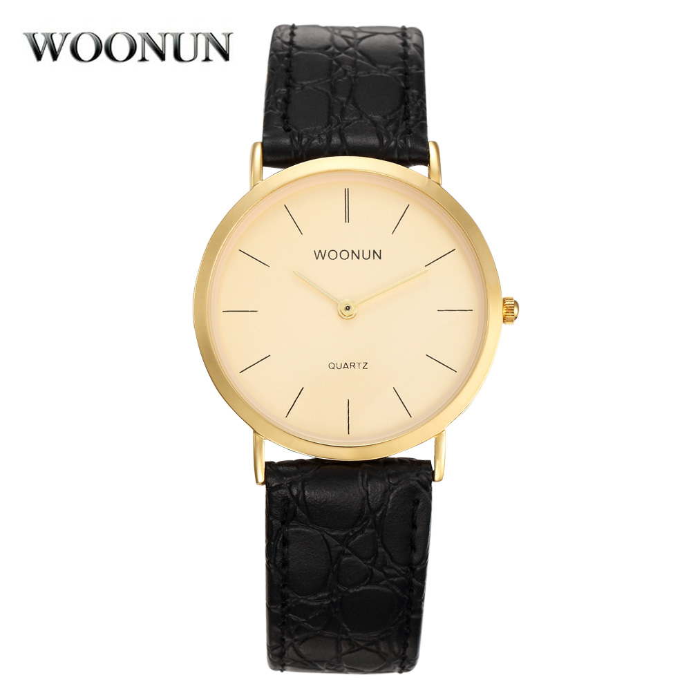 WOONUN Top Brand Luxury Fashion Simple Reloj Hombres Impermeable A - Relojes para hombres