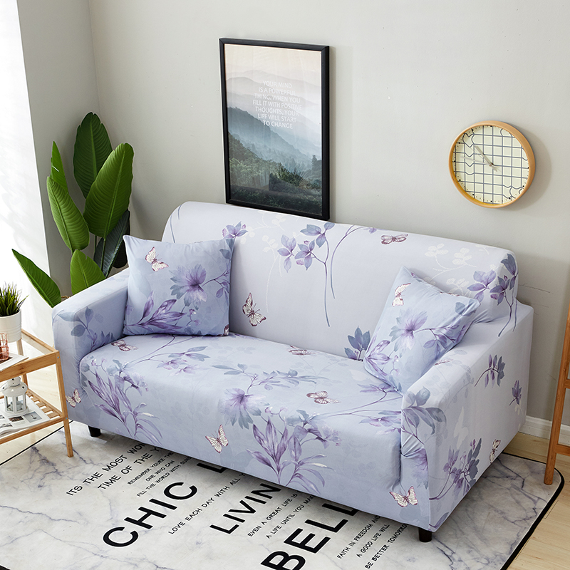 Light Purple Flowers Couch Sofa Covers For Living Room