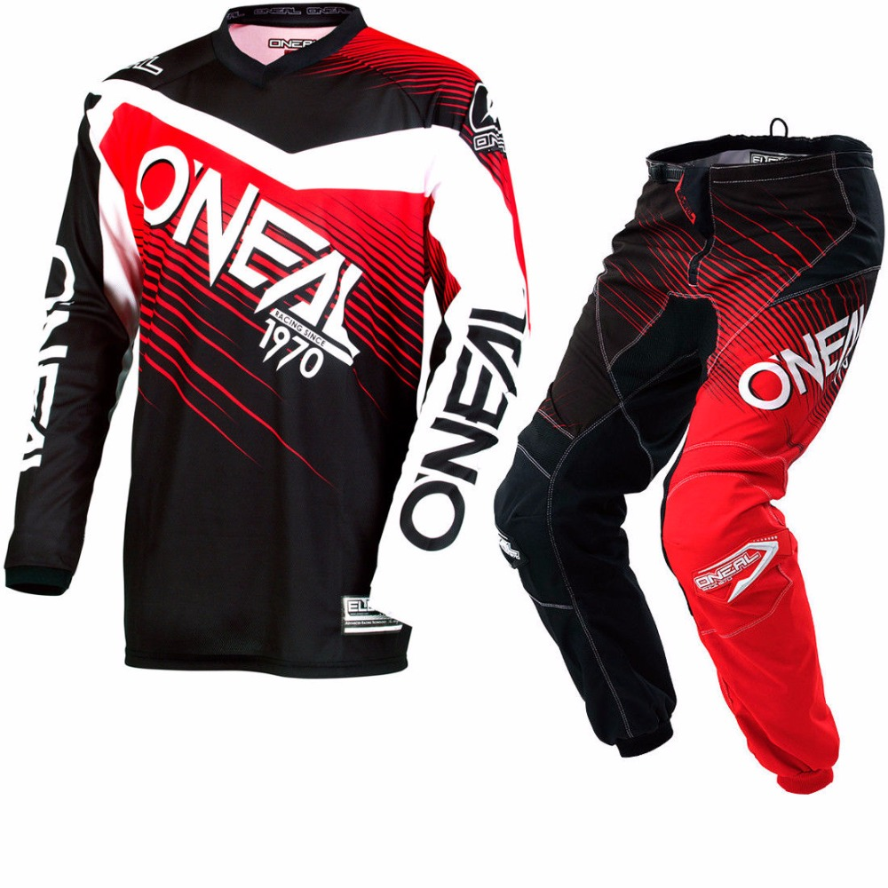 Free Shipping 2018 MX Element Black Red Jersey Pants Cheap Adult Motocross Gear Set Racing Gear hot sales 2017 aaa top best qualit ajax adult kit short sleeve soccer jersey 16 17 home red away black free shipping