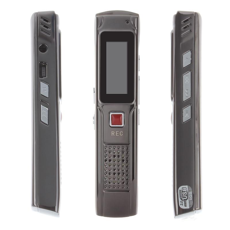 8G voice Audio Recorder MP3 Player Playback Digital Voice Sound Recorder Pen Portable Rechargeable Dictaphone gravador de voz