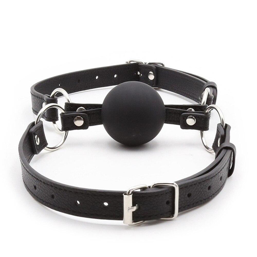 Buy Silicone Mouth Plug Ball Gag Bondage Slave Adult Games Couples Fetish Oral Sex Toys Women Men