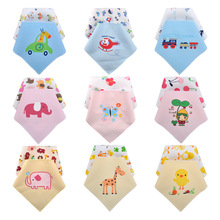 цена на 2pcs Baby Bibs Soft Baby Feeding Apron Cute Animal Burp Cloth Newborn Bandana Bibs Children Clothing Accessories Bibs Towel
