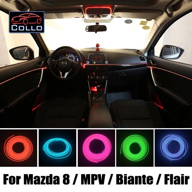Автомобиль-стайлинг 9 метров El провода для Mazda 8 Mazda8 М8 МПВ / Biante / чутье / автомобиль романтическая атмосфера лампы / гибкий Неон холодный свет
