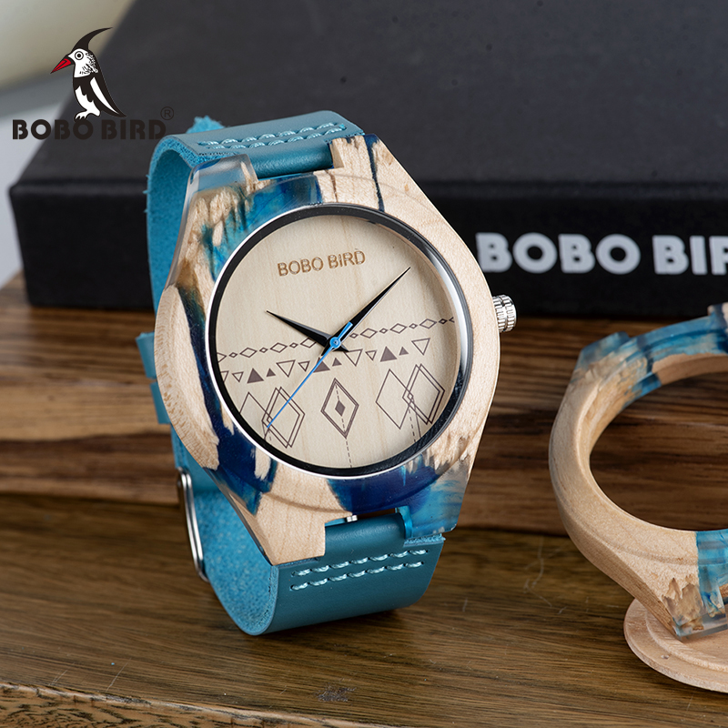 BOBO BIRD Fashion Simple Men Wacth Wood Quartz Timepiece Resin and Wooden Case relogio masculino In Gift Box S07BOBO BIRD Fashion Simple Men Wacth Wood Quartz Timepiece Resin and Wooden Case relogio masculino In Gift Box S07