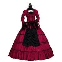 Renaissance Jeune Fille Princesse Gothique Robe De Bal Steampunk Sexy Vampire Théâtre Halloween Costume