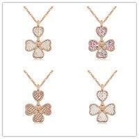 Wholesale Four Leaf Clover Necklaces Pendant Fashion Statement Necklace Jewelry