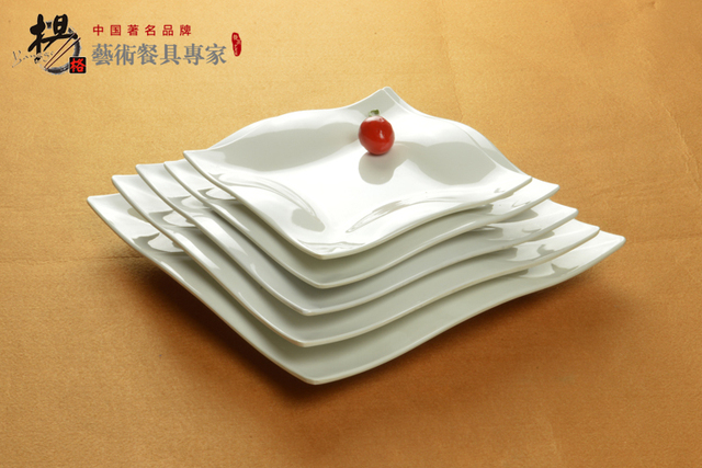 Melamine wave four square plate heat food dish cake plate Japanese style melamine dishes & Melamine wave four square plate heat food dish cake plate Japanese style melamine dishes-in Dinnerware Sets from Home u0026 Garden on Aliexpress.com | ...