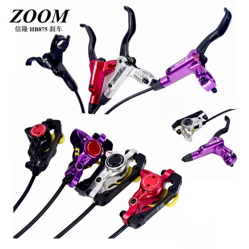 ZOOM HB-875 Bike Hydraulic Brake Kit 750/1350 mm MTB Bicycle Disc Brake Set Front and Rear Hydraulic Brake Pads Bike Parts image