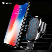 Baseus Wireless Charger Car Holder For iPhone Xs Max X 8 USB Wireless Charging For Samsung S9 Note 9 Air Vent Car Mount Holder