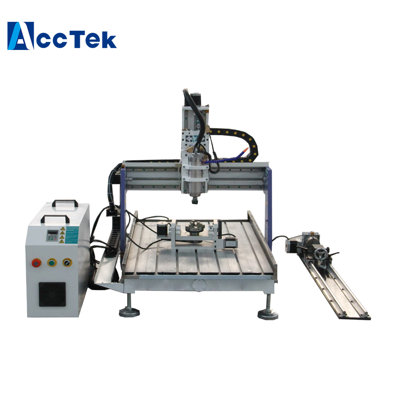 5 axes mini CNC routeur machine 6090 d'acctek, 4 axes bois aluminium gravure CNC routeur machine