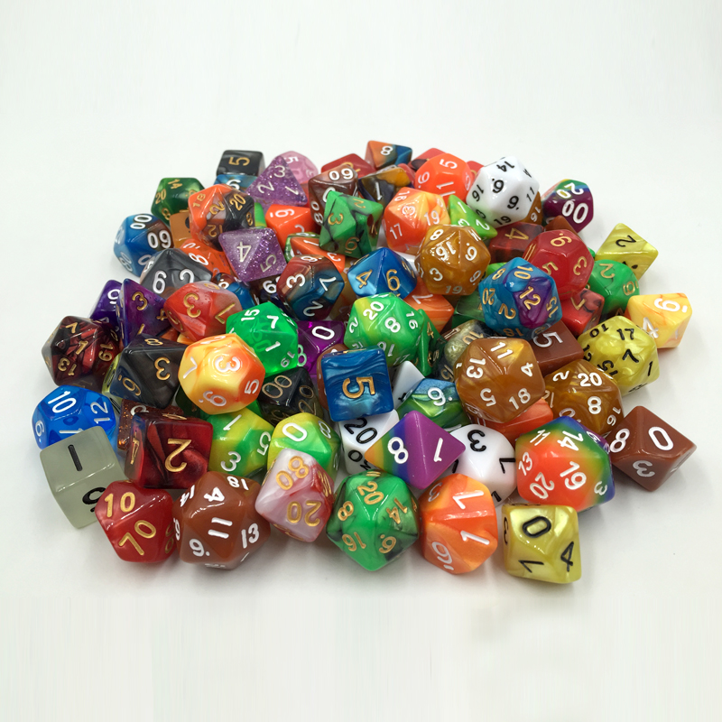 Rollooo Dice 100+ Pack Of Random Polyhedral Dice In Multiple Colors