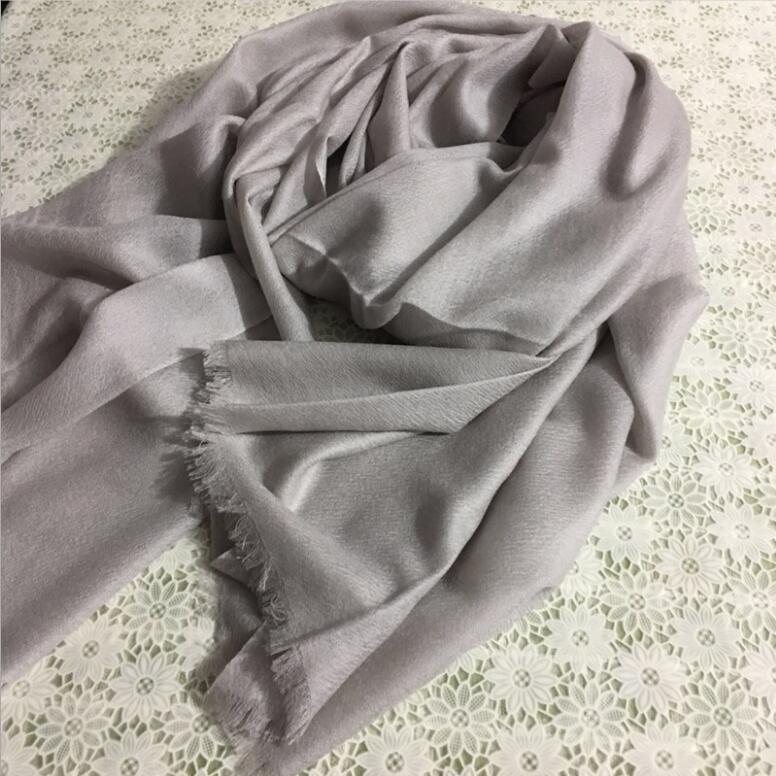 New Men/'s Fashion Light Gray 100/% Cashmere Pashmina Soft Warm Solid Neck Scarf