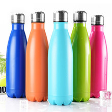 500ml Vacuum Bottle Creative Insulation Cup With Stainless Steel Coffee Bottle Bowling Shape Decathlon Bicycle Cycling Camping