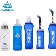 AONIJIE, 450 мл, 500 мл, Спортивная, без бисфенола, складная, мягкая сумка для воды, бутылка для воды, чайник, фляга, гидратационный пакет, мочевой пузырь