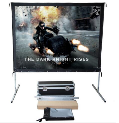 2019 Hot selling 80 inch 16:9 format Fast Quick Fold Projector screen for many size front and rear projection screen