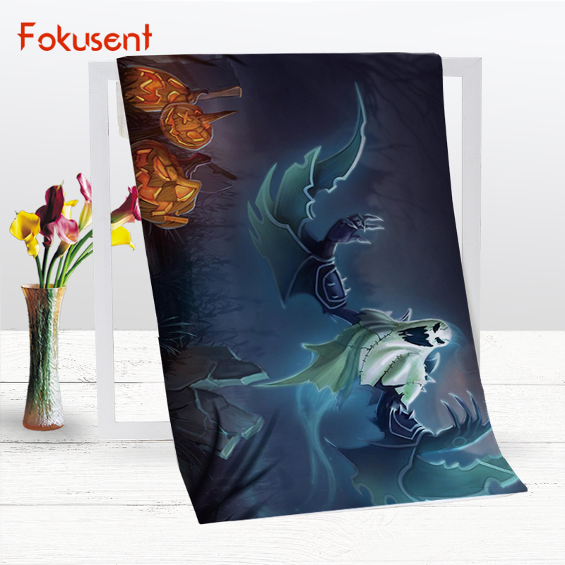 fokusent polyester cotton microfiber bath towel printed halloween horror ghosts soft beach towel yoga mat for - Halloween Bath Towels