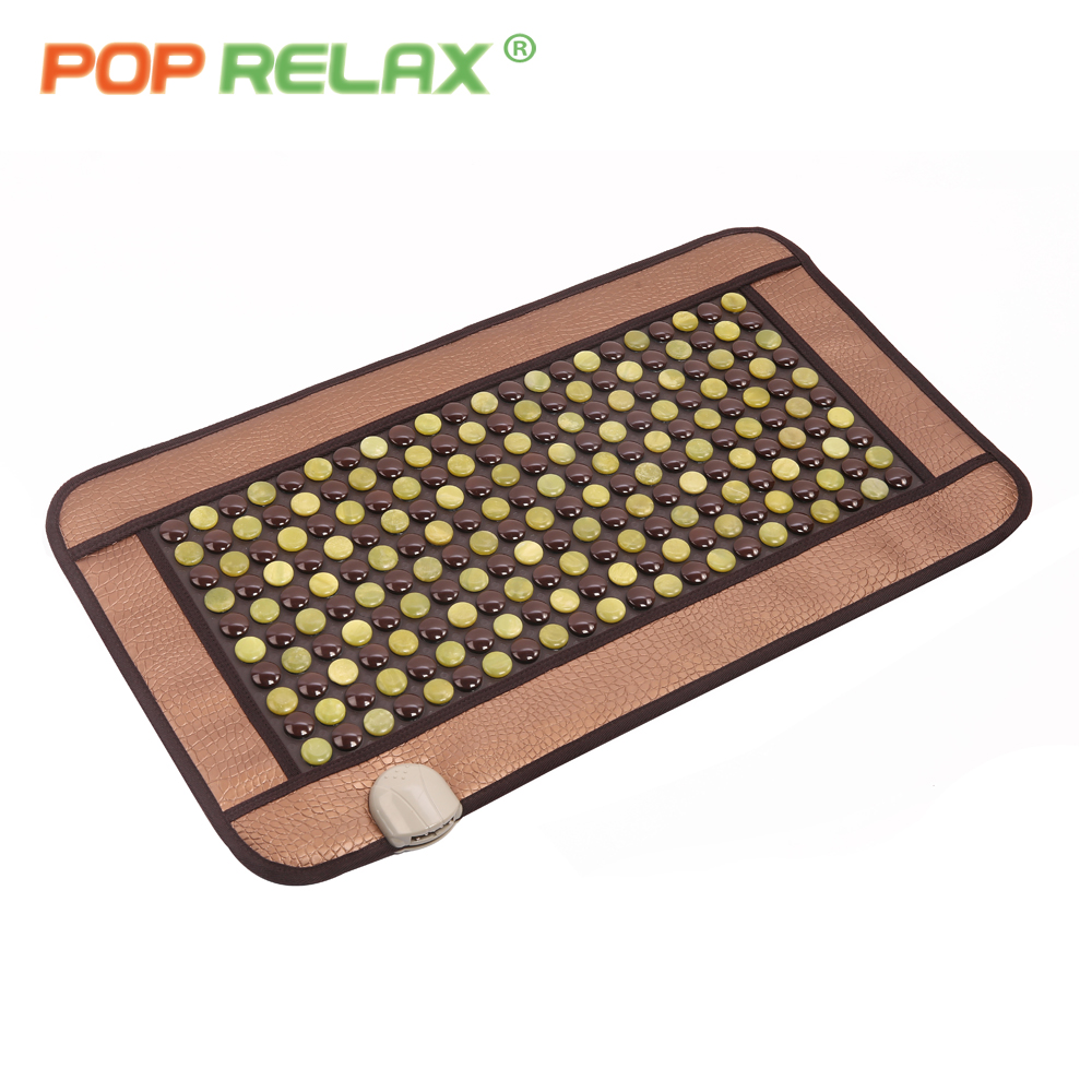 POP RELAX Korea germanium mattress tourmaline jade anion thermal infrared electric heating physiotherapy health care stone mat pop relax korea germanium tourmaline bracelet for couples health care new fashion anion stone jewelry bracelet physical therapy