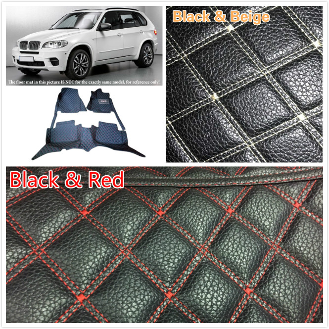 5 Seats Car Floor mat for BMW X5 E70 2008 2009 2010 2011 - 2013 Customs Leather Waterproof Front & Rear Floor Mats Carpets Pads auto floor mats for honda cr v crv 2007 2011 foot carpets step mat high quality brand new embroidery leather mats