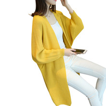 2019 Autumn Winter Fashion Women V-neck Batwing Sleeve Loose Knitting Cardigan Sweater Women Knitted Female Cardigan Pull Femme цена