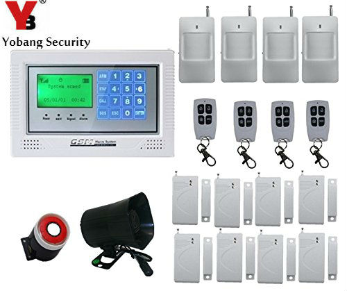 Yobang Security GSM Alarm System Android Ios App Control With Color Lcd SMS Call Alarm/Siren Built Built-in intercom speakers wireless service call bell system popular in restaurant ce passed 433 92mhz full equipment watch pager 1 watch 7 call button