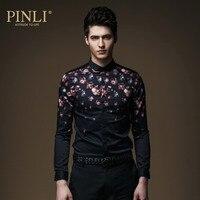 2017 heißer Verkauf Neue Pinli Produkt Die Britischen Akzent und männer Mode Pflegen Moral Micro C064 Langarm hemd