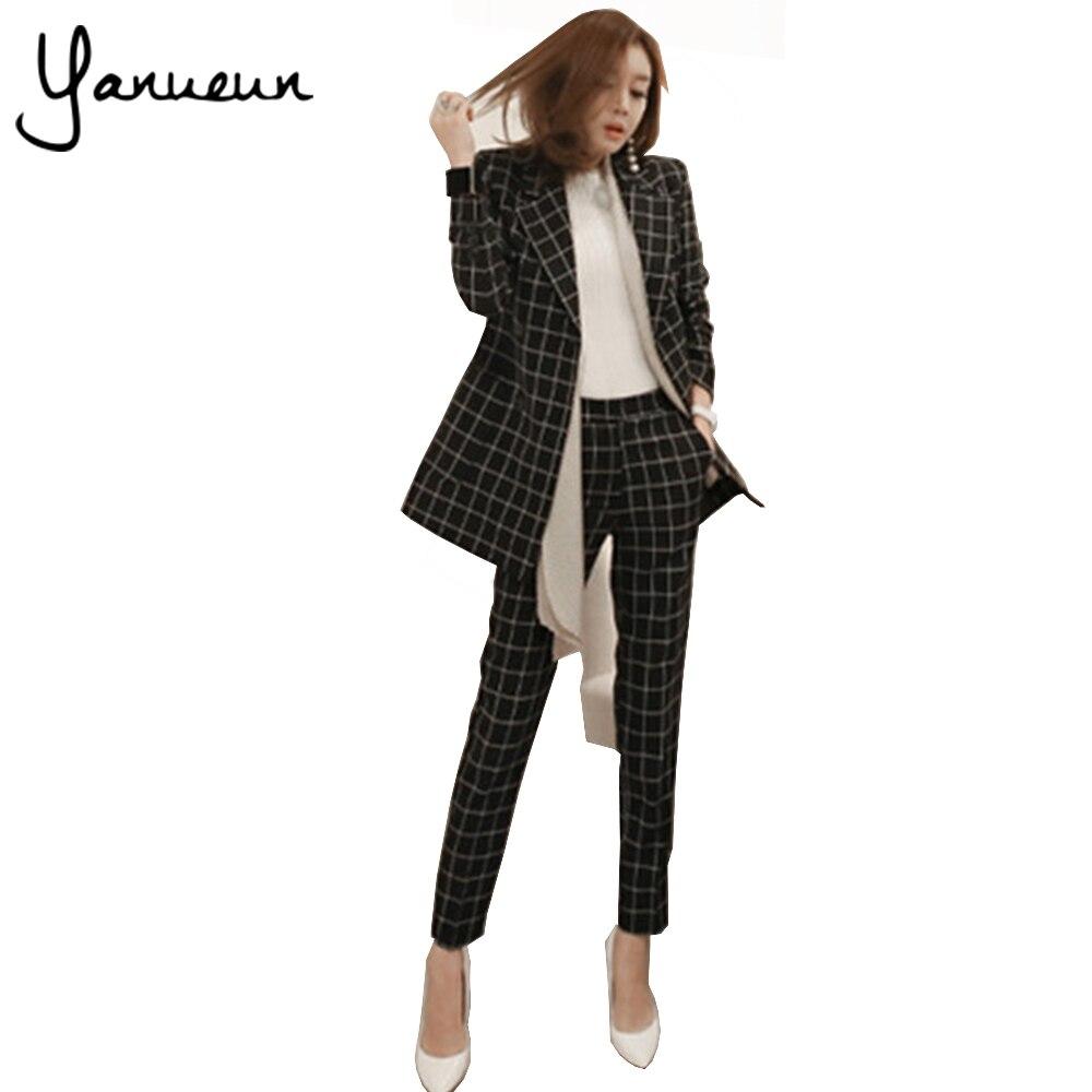 Yanueun Korean Fashion 2017 New Business Pant Suits Set ...