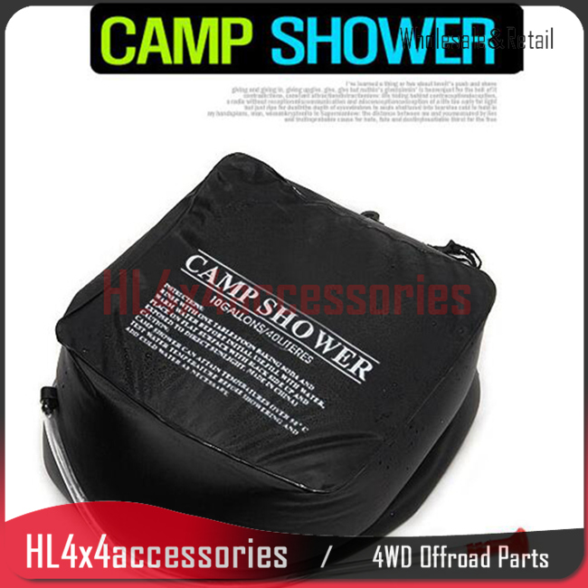 outdoor solar shower bag 40L camping washer Heated water traveling bathing bag offroad accessories 4x4 accessories